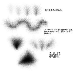 陰毛ブラシサンプル2